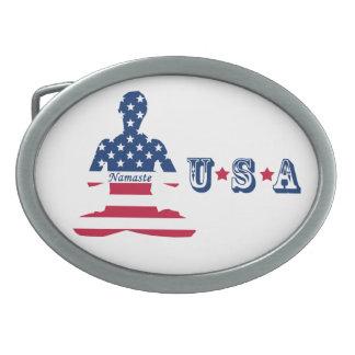 Bandeira da ioga do americano da meditação dos EUA