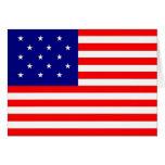 bandeira da listra 15 star/15 - cartão