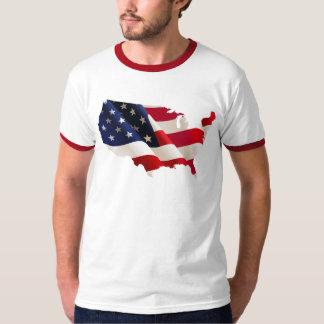 Bandeira da onda dos EUA Camisetas