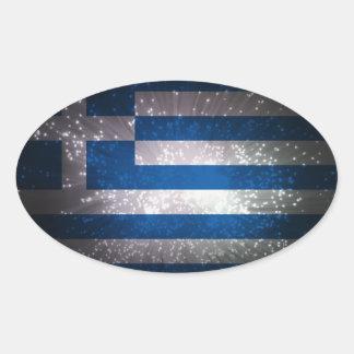 Bandeira da piscina adesivo oval
