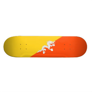 Bandeira da plataforma do skate de Bhutan