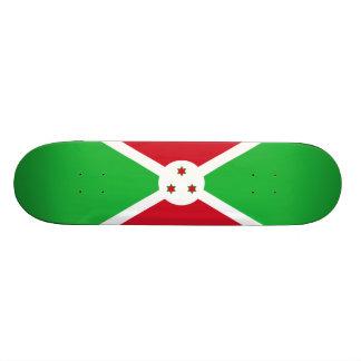 Bandeira da plataforma do skate de Burundi