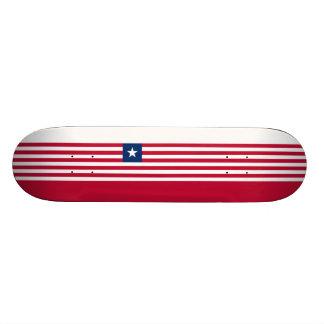Bandeira da plataforma do skate de Liberia