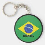 Bandeira da qualidade de Brasil Roundel Chaveiro