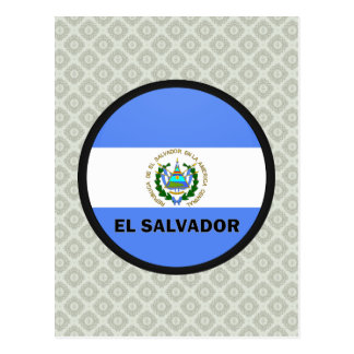 Bandeira da qualidade de El Salvador Roundel Cartão Postal