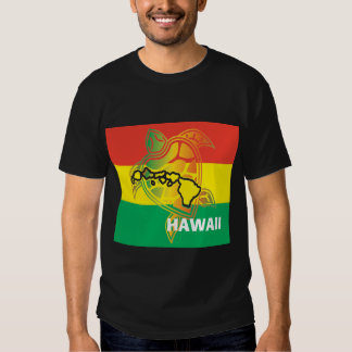 Bandeira da reggae de Havaí Tshirts