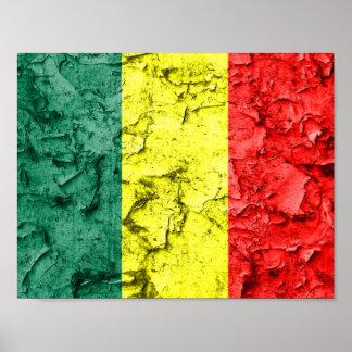 Bandeira da reggae do vintage pôster