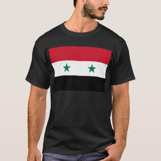 Bandeira da república árabe síria - bandeira de camiseta