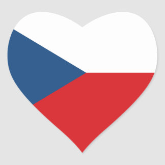 Bandeira da república checa adesivo coração