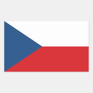 Bandeira da república checa adesivo retangular