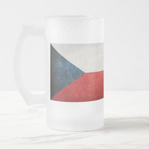 Bandeira da república checa; caneca