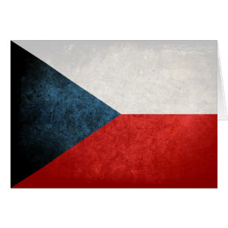Bandeira da república checa cartão de nota