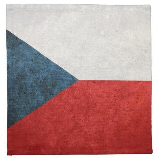 Bandeira da república checa guardanapo de pano
