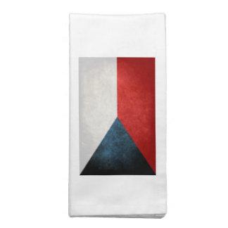 Bandeira da república checa guardanapo impresso