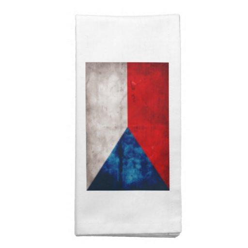 Bandeira da república checa guardanapos