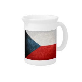 Bandeira da república checa; jarro para bebida