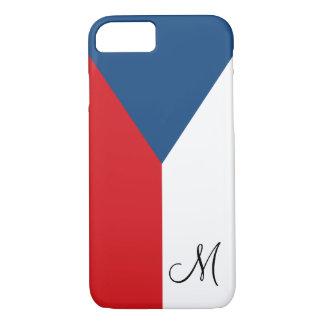 Bandeira da república checa Monogrammed Capa iPhone 7