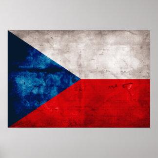 Bandeira da república checa poster