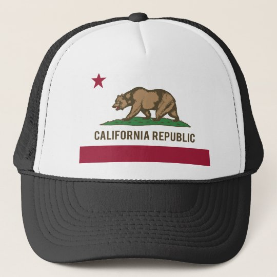 Bandeira da república de Califórnia - cor Boné