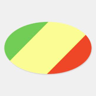 Bandeira da República Democrática do Congo Adesivo Oval