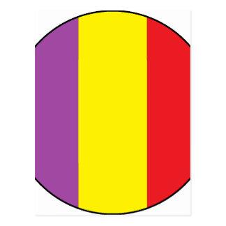 Bandeira da república espanhola - bandera Tricolor Cartão Postal
