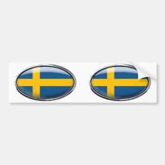 Bandeira da suecia no Oval de vidro Adesivo Para Carro