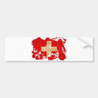 Bandeira da suiça adesivo para carro