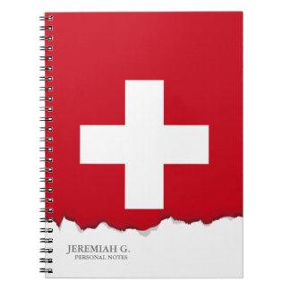 Bandeira da suiça caderno