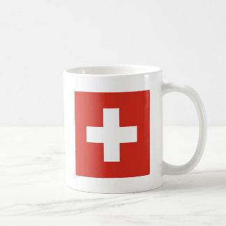 Bandeira da suiça caneca de café