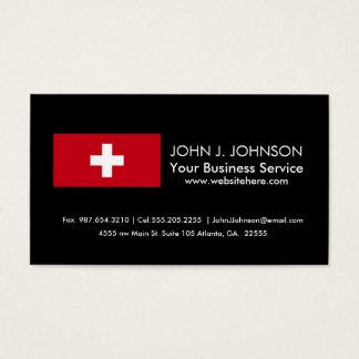 Bandeira da suiça cartão de visitas