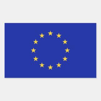 Bandeira da União Europeia Adesivo Retangular