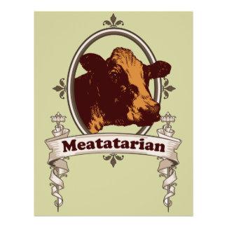 Bandeira da vaca de Meatatarian Panfletos Personalizados