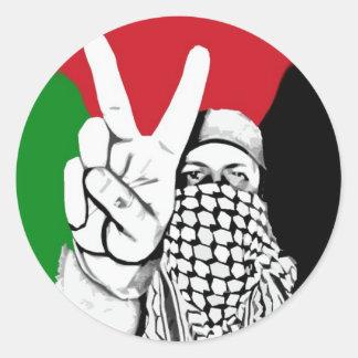 Bandeira da vitória de Palestina Adesivo Redondo