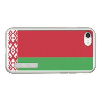 Bandeira das capas de iphone de prata de Belarus