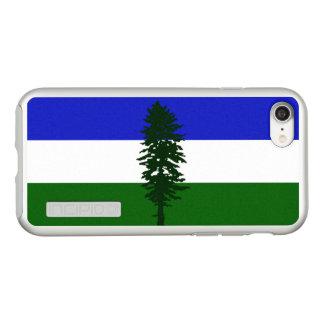 Bandeira das capas de iphone de prata de Cascadia