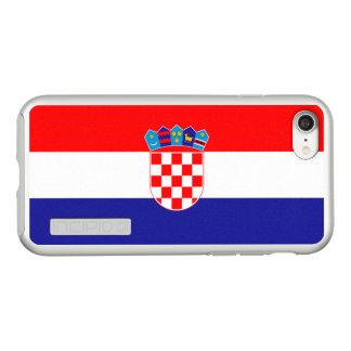 Bandeira das capas de iphone de prata de Croatia