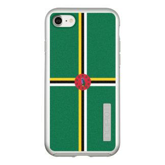 Bandeira das capas de iphone de prata de Dominica