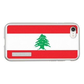 Bandeira das capas de iphone de prata de Líbano