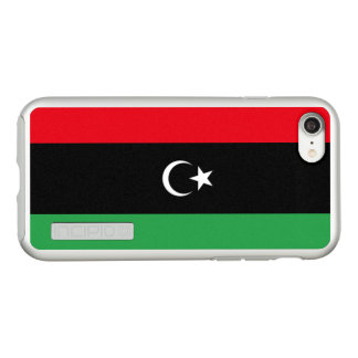 Bandeira das capas de iphone de prata de Líbia