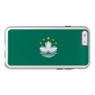 Bandeira das capas de iphone de prata de Macau