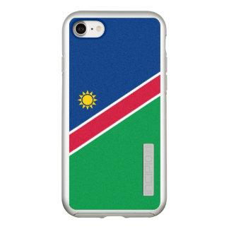 Bandeira das capas de iphone de prata de Namíbia