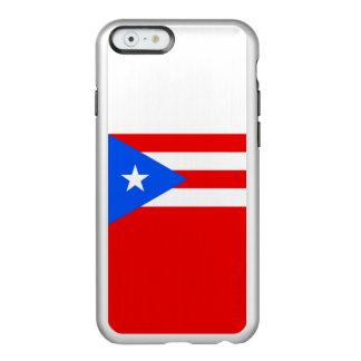 Bandeira das capas de iphone de prata de Puerto