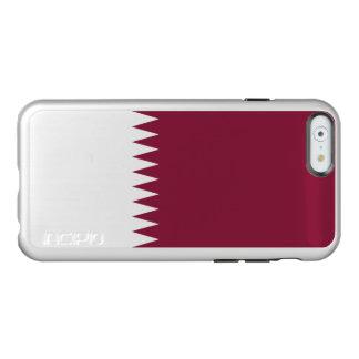 Bandeira das capas de iphone de prata de Qatar