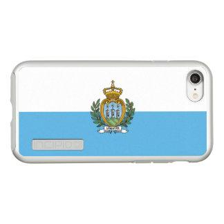 Bandeira das capas de iphone de prata de San