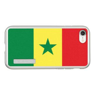 Bandeira das capas de iphone de prata de Senegal