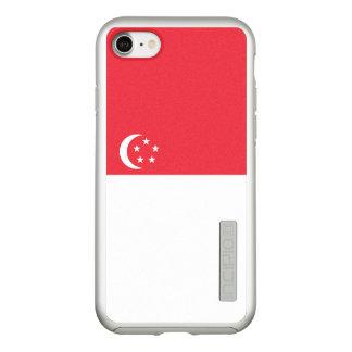 Bandeira das capas de iphone de prata de Singapore