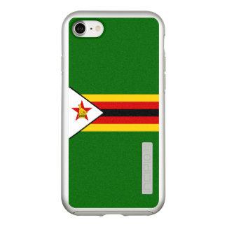 Bandeira das capas de iphone de prata de Zimbabwe