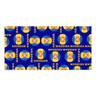 Bandeira das ilhas de Madeira Cartão Com Foto