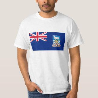 Bandeira das Ilhas Falkland - Union Jack Camiseta
