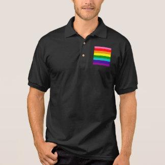 Bandeira das listras do original 8 do orgulho gay camisa polo